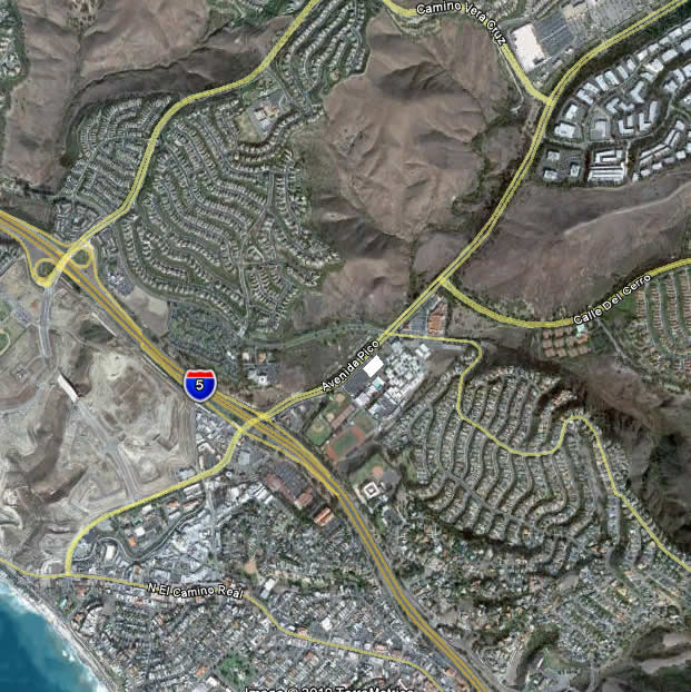 From Vera Cruz, upper right, to North Beach, lower left, the Pico Shared Use Path would provide off-street access to the beach for thousands of citizens. Separated bicycle and pedestrian lanes are anticipated.