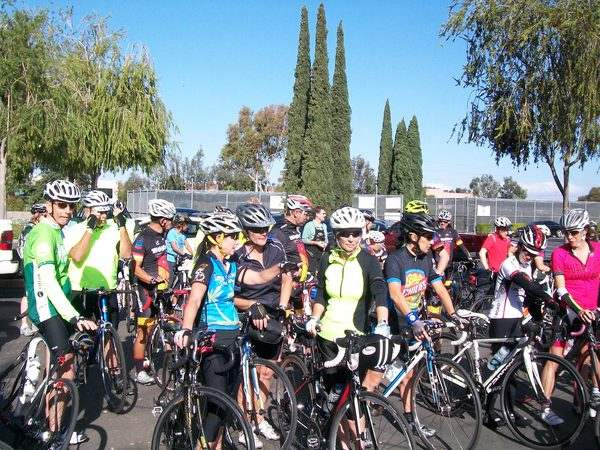 Riders from various clubs and the Robert's Cycling Meetup Group came together to cycle in memory of Paul Lin.