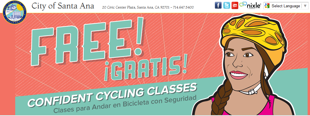 SantaAna Confident Cycling Classes