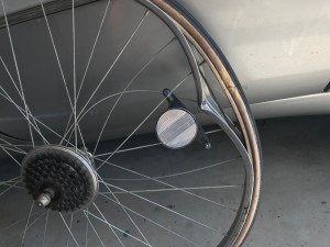 Bicycle wheel ruined by unsafe drainage grate